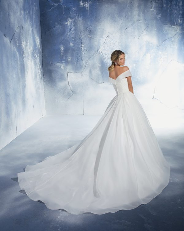 51461 abito da sposa classico in organza